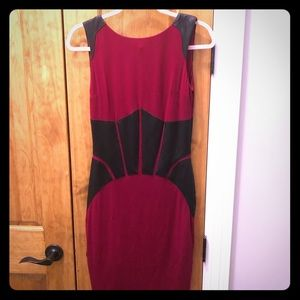 Wine Red Sheath Dress